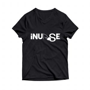 iNurse Screen Print Deep V Neck Tee