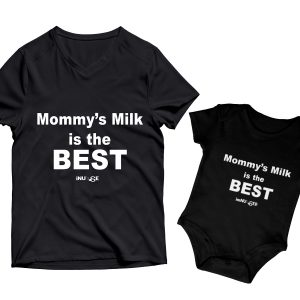 Mommy's Milk is the Best Mommy & Me Screen Print Set